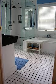 31 retro black white bathroom floor tile ideas and pictures une