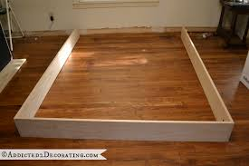 Build Your Own Platform Bed Base by Diy Stained Wood Raised Platform Bed Frame U2013 Part 1