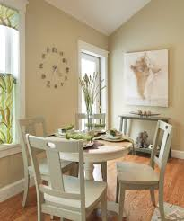 clock artwork dining room transitional with rustic touches pendant