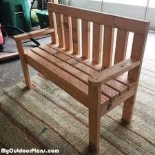 Build Wood Garden Bench by Diy 2x4 Wood Garden Bench Myoutdoorplans Free Woodworking
