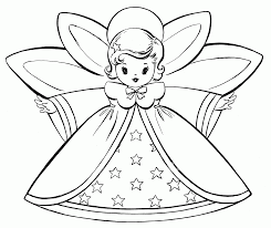 angel coloring page christmas simple coloring home