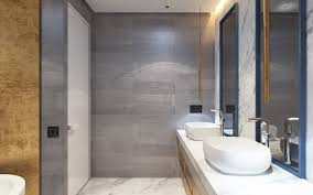 bathroom design and decoration using drum white glass modern
