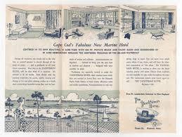 inside brochure for yachtsman hotel hyannis cape cod ma 1956
