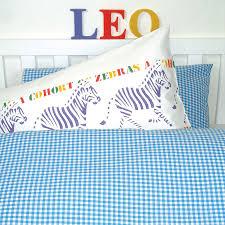 gingham duvet cover and pillowcase by tessuti notonthehighstreet com