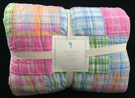 Pottery Barn Kids Butterfly Rug by Pottery Barn Kids Madras Twin Quilt Pink Blue Girls Surf Summer