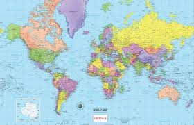 South America Map And Capitals by Map Of World Countries And Capitals Travel