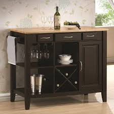 amazon com coaster 910028 kitchen cart with three drawers