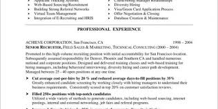 Recruiting Resume Examples by Staffing Agency Recruiter Resume Staffing Agency Recruiter Resume