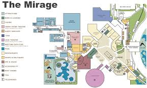 North Las Vegas Map by Las Vegas The Mirage Hotel Map