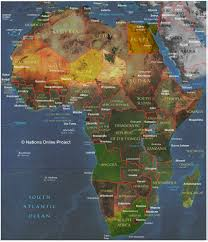 Physical Map Of Africa by Small Africa Map