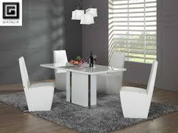 modern white dining table set