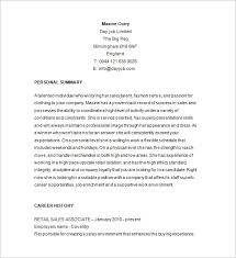 cover letter job resume objective qhtypm examples entry level job     eluded co Retail Sales Associate Resume Sample