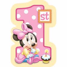 1st Year Baby Birthday Invitation Cards Baby Minnie 1st Birthday Invitations Iidaemilia Com