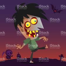 halloween vector art cartoon zombie halloween vector illustration stock vector art