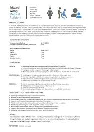 student entry level medical assistant medical assistant cover      SinglePageResume com