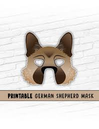 Halloween Masks Printables German Shepherd Mask Malinois Dog Mask Printable Halloween