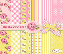 Shabby Chic Pink Wallpaper by 12 Shabby Chic Pink And Yellow Digital Papers 6 Digital
