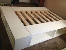 Wood Decor by Bedroom Diy Pallet Bed Frame With Storage Expansive Concrete