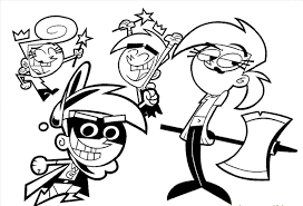 fairy odd parents cartoon coloring pages pictures cartoon