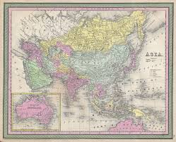 Map Of Asia by 1853 Map Of Asia If Europe Is Considered A Separate Continent