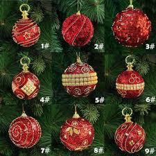 8cm 80mm christmas decor luxury round christmas balls wedding xmas