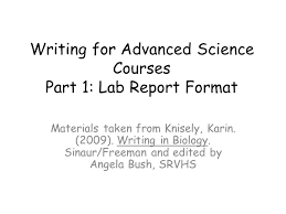 writing a lab report for dummies   Writing Lab Reports For Dummies