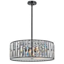 Living Lighting Home Decor Decor Living Tomas 3 Light Black Crystal Pendant 7503p 021 The