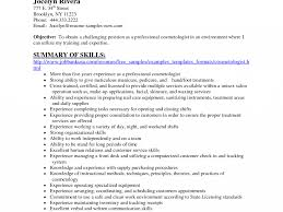 Cosmetologist Resume Objective Fantastic Resume For Cosmetology 14 Cosmetology Resume Skills