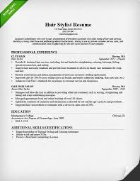 Sample Caregiver Resume No Experience by Hair Stylist Resume Sample U0026 Writing Guide Rg