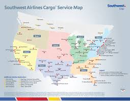 North Las Vegas Map by Southwest Air Cargo Map And Cargo Destinations