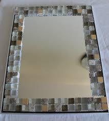 enchanting mosaic tile framed bathroom mirror also home decorating