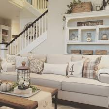 cozy modern farmhouse living room interior design by janna