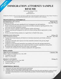 Law Resume Samples by Immigration Attorney Resume Law Resumecompanion Com Resume