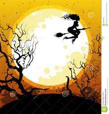 halloween background with witch royalty free stock photos image