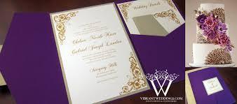 folded invitation purple and gold wedding invitation u2013 a vibrant wedding