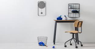 bard pendulum wall clock matt grey made com
