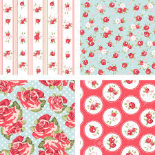 Shabby Chic Pink Wallpaper by Shabby Chic Set 4 Vintage Rose Patterns Seamless Rose Wallpaper