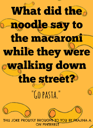 a joke by me actually i think i made this up while eating pasta