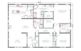 Executive Ranch Floor Plans 4 Bed 3 Bath House Floor Plans Home Design Ideas