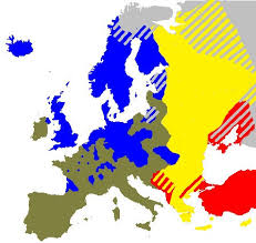 Protestantism   Wikipedia Wikipedia Approximate spread of Protestantism  blue  near the Reformation     s peak in Europe