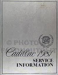1981 cadillac repair shop manual and body manual on cd rom