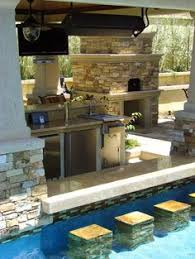 Ideas For Outdoor Kitchen Outdoor Kitchen Designs Plans With Pool Trend Home Design And