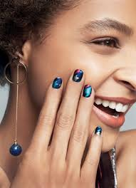 learn how to do metallic nail art u2014just in time for the holidays