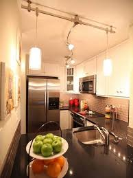 Track Lighting For Kitchens by Contemporary Powder Room With Pendant Track Lighting Stylish