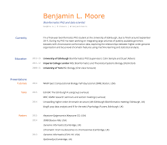 What To Put As An Objective On A Resume Building An Academic Cv In Markdown Blm Io
