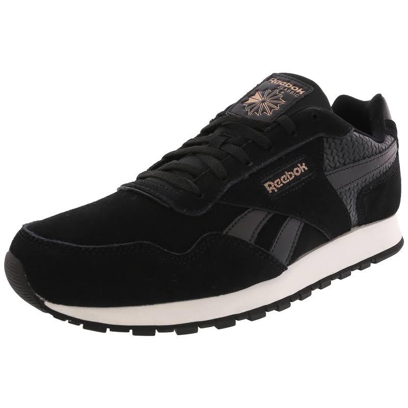 Reebok CL Harman Run Ortholite Fashion Sneakers Black 8.5 Medium (B,M)