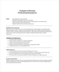 Summary Sample Resume by Summary Example For Resume Executive Summary Example Resume