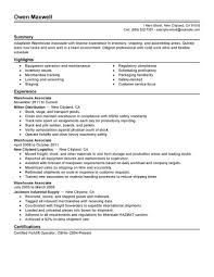 Sample Resume Objectives Warehouse Worker by Sample Warehouse Resume Resume Warehouse Templates Resume Resume