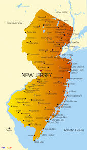 Map Nj New Jersey Map Blank Political New Jersey Map With Cities