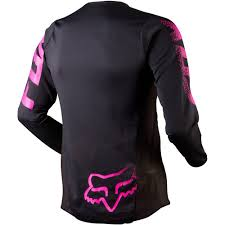 ladies motocross gear all new fox racing 2015 womens blackout jersey black pink wide